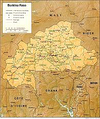 Click to Enlarge Map of Burkina